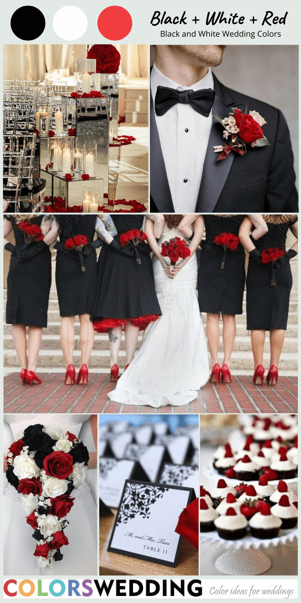 Colors Wedding Perfect 8 Black And White Wedding Color Combos