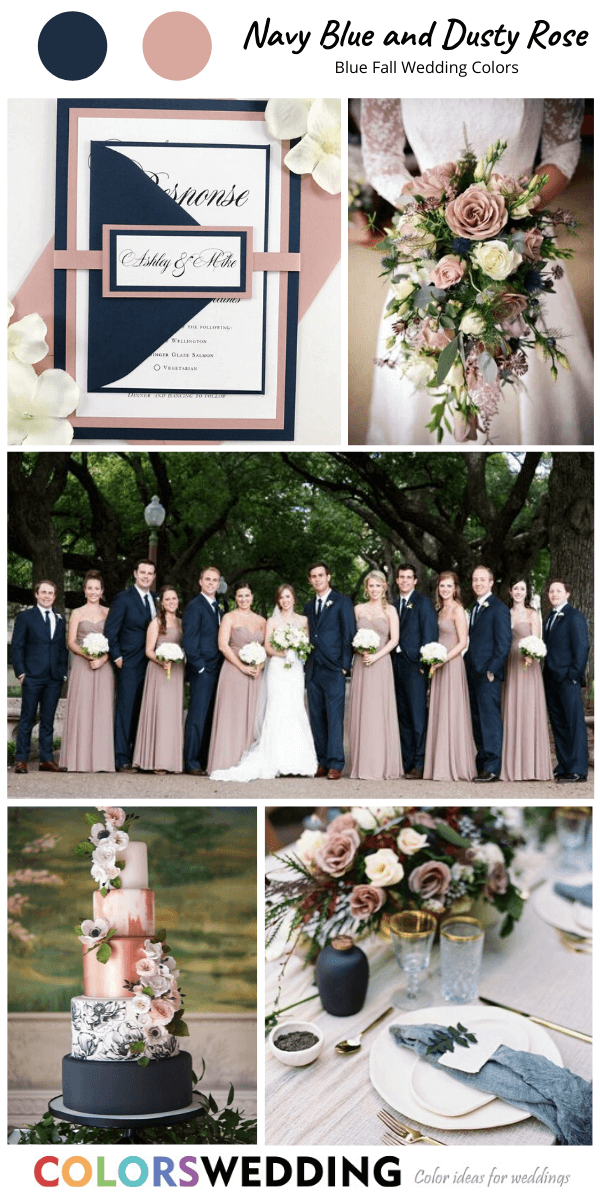Colors Wedding Top 8 Blue Fall Wedding Color Palettes