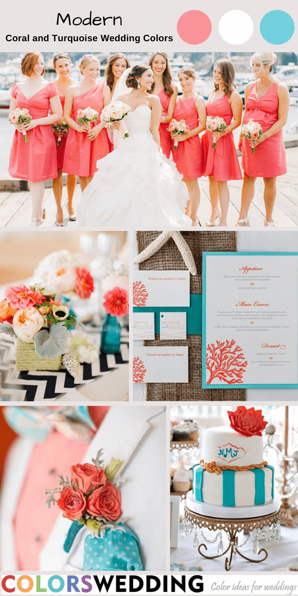 Colors Wedding Best 8 Coral And Turquoise Wedding Color Ideas
