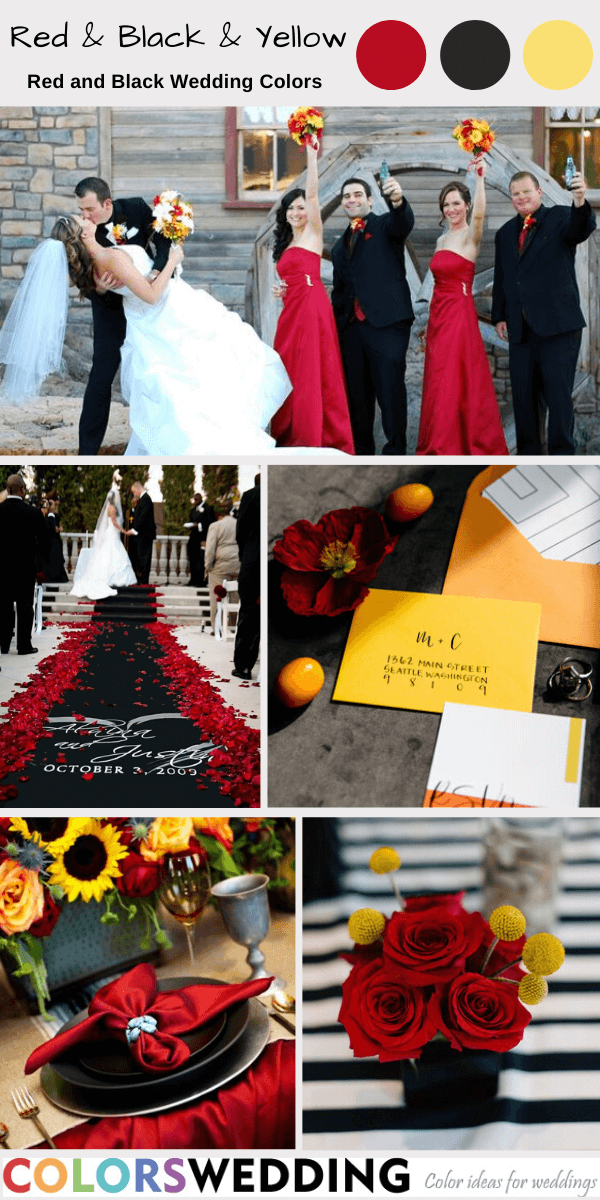 Colors Wedding Top 7 Red And Black Wedding Color Ideas
