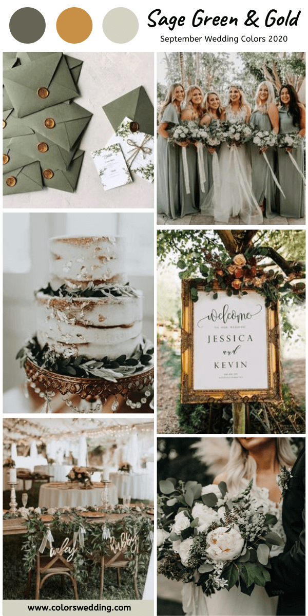 Colors Wedding Top 8 September Wedding Color Combos For 2020