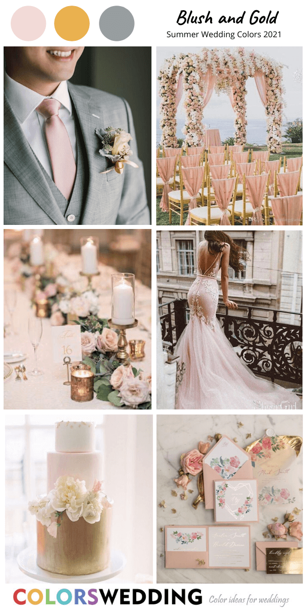 Colors Wedding Best 8 Summer Wedding Color Combos For 2021