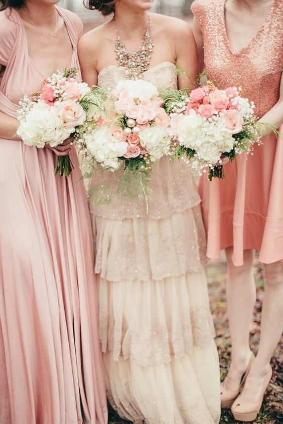 light pink bridesmaid dresses for light pink and gold summer wedding 2020