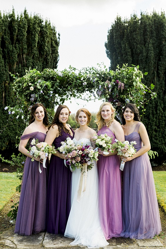 plum and lilac bridesmaid dresses for plum lilac and navy fall wedding 2020