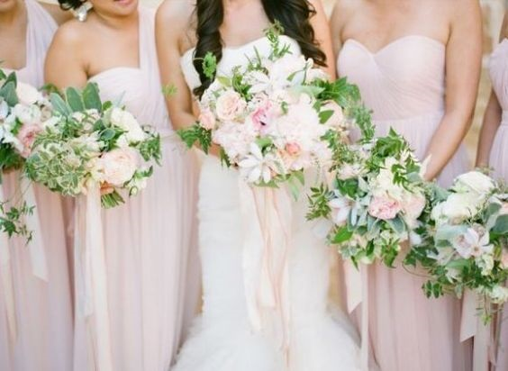 blush bridesmaid dresses for blush and burgundy september wedding color 2020