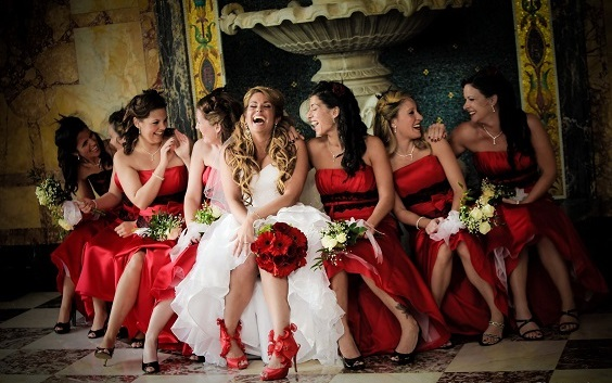 Colors Wedding Red White And Gold Wedding Red Bridesmiad Dresses,Jcpenney Wedding Dresses Bridal Gowns