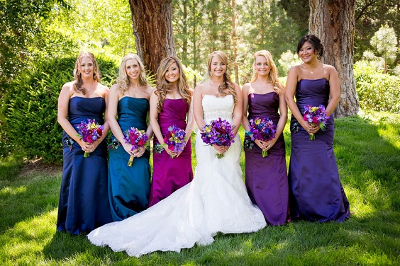 Colors Wedding Teal And Purple Outdoor Wedding Teal And Purple Bridesmaid Dresses,Formal Summer Beach Wedding Guest Dresses