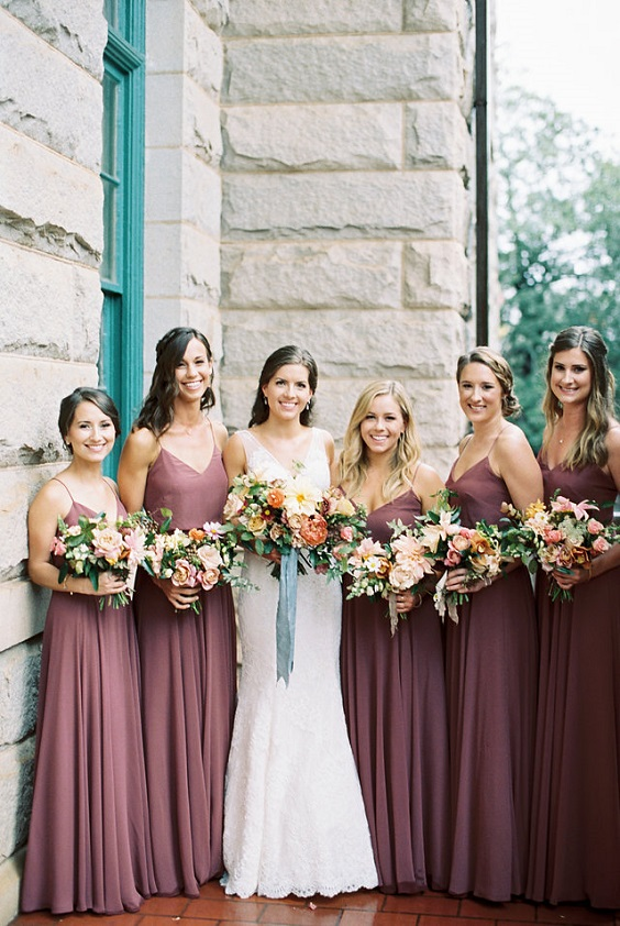 mauve bridesmaid dresses white bridal gown for mauve white mauve and grey wedding