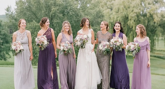 purple mauve bridesmaid dresses for purple mauve purple and blue wedding